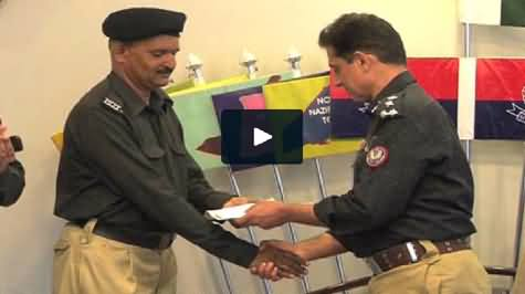 Brave Police Constable Muhammad Fayaz Awarded with 5 Lac Rs. For Foiling Bank Robbery
