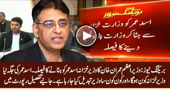 Breaking News: Govt Decides To Remove Asad Umar As Finance Minister