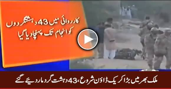 Breaking News: Massive Operation in Pakistan Against Terrorists, 43 Killed So Far