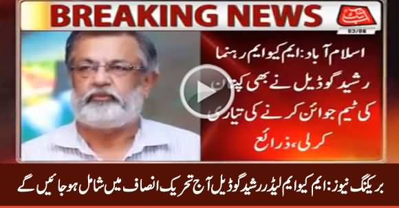 Breaking News: MQM Leader Rasheed Godial Will Join PTI Today