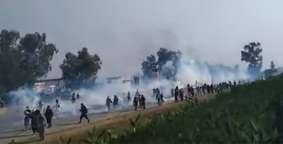 Breaking News: Police Starts Shelling on TLP March in Sadhoke