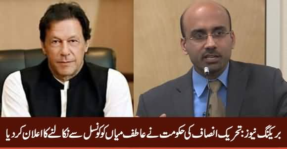 Breaking News: PTI Govt Fired Atif Mian From Economic Advisory Council