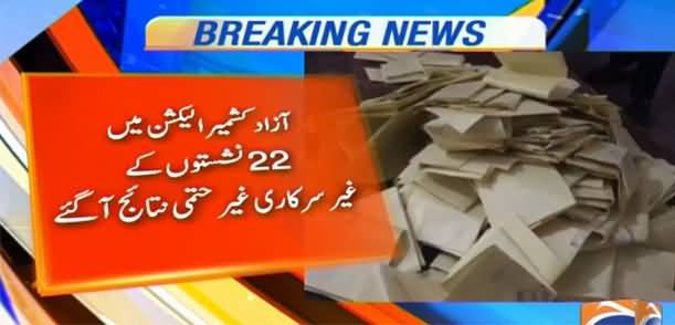 Breaking News: PTI Wins 17 Seats Out of 22 in Azad Kashmir Elections