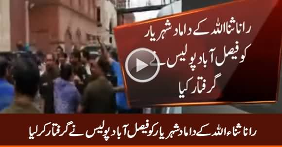 Breaking News: Rana Sanaullah's Son in Law Arrested by Police