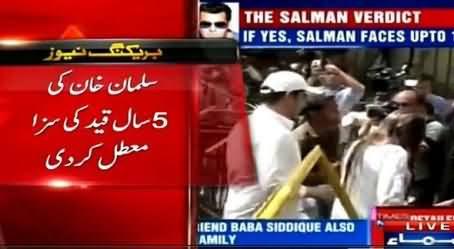 Breaking News: Salman Khan's Five Year Sentence Suspended by Mumbai Court