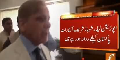 Breaking News: Shehbaz Sharif to Return to Pakistan Tonight