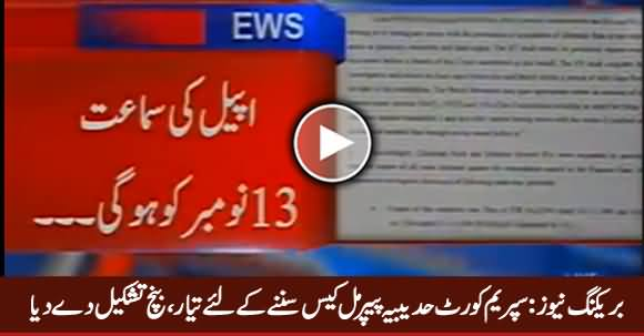 Breaking News: Supreme Court Formed Bench To Hear Hudaibiya Paper Mills Case