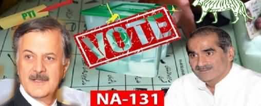 By-Elections NA-131 Lahore (Khawaja Saad Vs Hamayun Akhtar) Latest Results