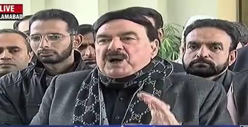 Can't Accept Shahbaz Sharif As Chairman of PAC - Sheikh Rasheed Media Talk