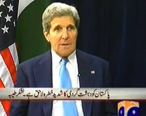 Capital Talk - 1st August 2013 (John Kerry Visits Pakistan, What Are The Reasons..??)