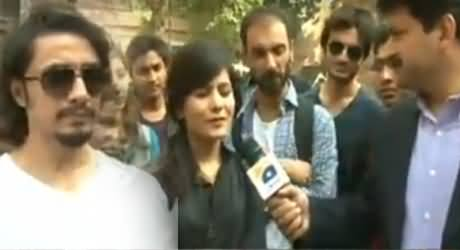 Capital Talk (Ali Zafar Special From National College of Arts Lahore) - 12th March 2014