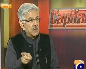 Capital Talk (Khawaja Asif Exclusive Interview on Terrorism and Musharraf) – 21st January 2014
