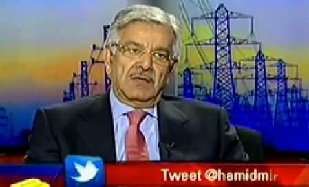 Capital Talk (Khawaja Asif Special Interview on Electricity Crisis) - 28th January 2015
