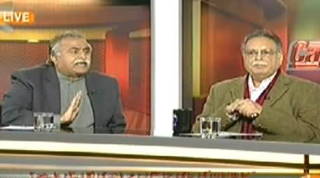 Capital Talk (Kya Waziristan Ko Operation Se Pehley Khali Kya Jaye Ga?) - 24th February 2014