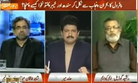Capital Talk (Petrol Ka Bohran Sindh Aur KPK Kaise Pahuncha) - 20th January 2015