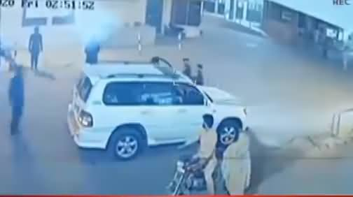 CCTV Footage of Sher Miandad And His Son On Hospital Door Right After Attack