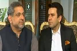 Center Stage With Rehman Azhar (PM Shahid Abbasi Exclusive) – 22nd February 2018