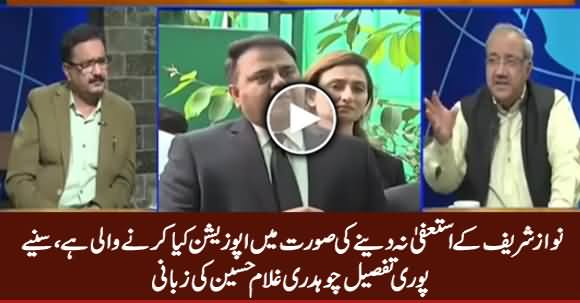 Chaudhry Ghulam Hussain Telling What Opposition Going To Do If PM Didn't Resign