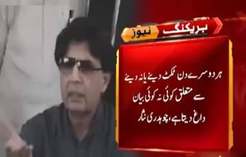 Chaudhry Nisar responds to Maryam Nawaz's statement regarding party tickets in PMLN