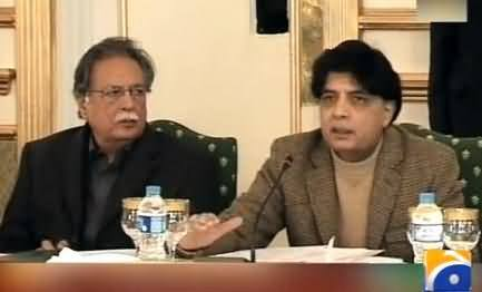 Chaudhry Nisar Vows to Ban Media From Broadcasting the Statements of Terrorists