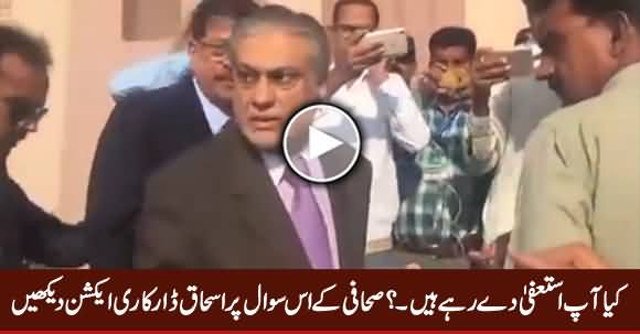 Check Ishaq Dar's Reaction When Journalist Asked
