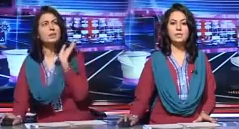 Check The Reaction of Female News Caster When Something Crashed on Her