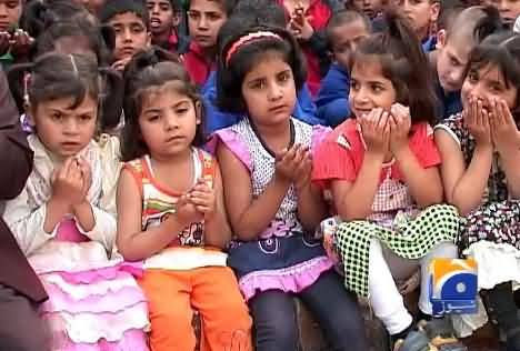 Children of Sweet Home Praying For the Health of Hamid Mir