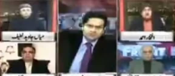 Clash Between Anchor Iftikhar Ahmad And General (R) Ghulam Mustafa
