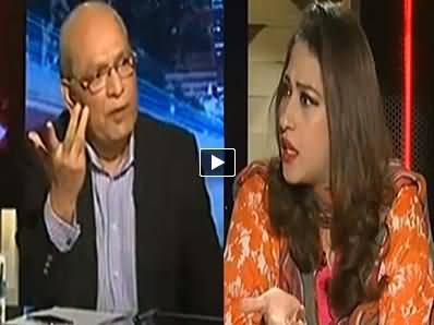 Clash Between Anchor Mehar Bukhari and PMLN Mushahidullah Khan in Live Show