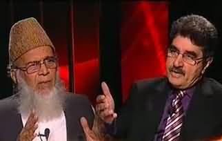 Clash Between Syed Munawar Hassan and Iftikhar Ahmad during Interview