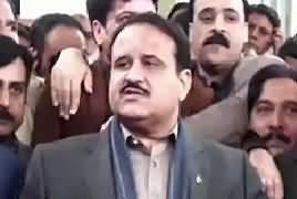 CM Punjab Usman Buzdar Media Talk in Gujranwala – 12th January 2019