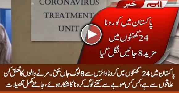 Coronavirus Takes 8 More Lives in Pakistan, Total Death Toll Rises Up to 26