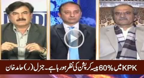 Corruption Eating Up To 60% of KPK Resources: General (R) Hamid Khan
