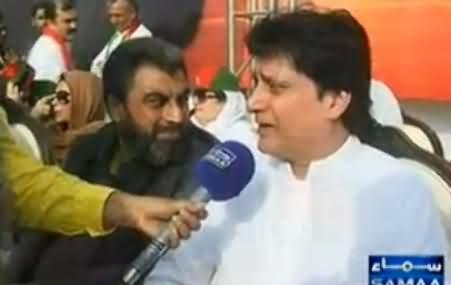 Cricketer Mohsin Khan Reached PTI Jalsa Venue, Telling His Views About Imran Khan