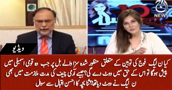 Critics of Pakistan's Armed Forces to Face Jail, Will PMLN Vote In Favour Of This Bill? Sana Bucha Asks Ahsan Iqbal