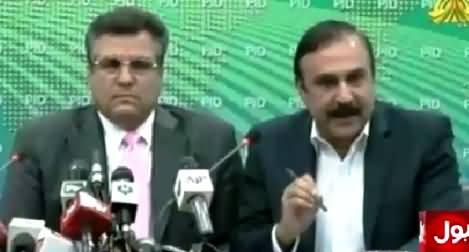 Daniyal Aziz & Tariq Fazal Chaudhry Blasting Press Conference Against Imran Khan