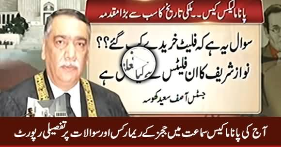 Detailed Report on Judges Remarks & Questions in Today's Panama Case Hearing