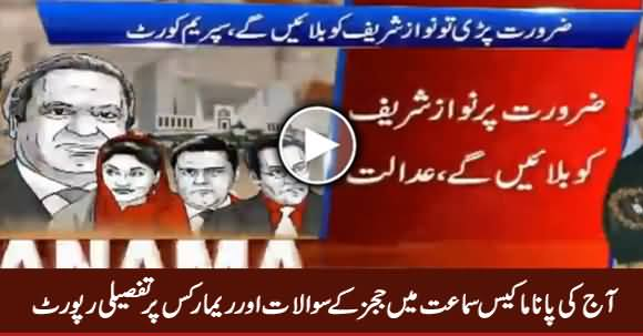 Detailed Report on Judges Remarks Today in Panama Case - 24th January 2017