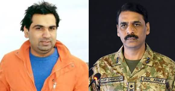 DG ISPR Asif Ghafoor First Time Directly Responds to Waqas Goraya on Twitter