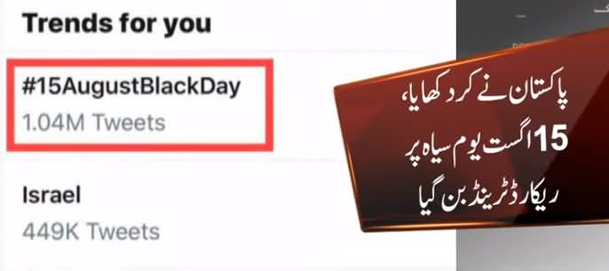 DG ISPR Started Trend #15AugustBlackDay Sets Record of 1 Million Plus Tweets in 30 Hours