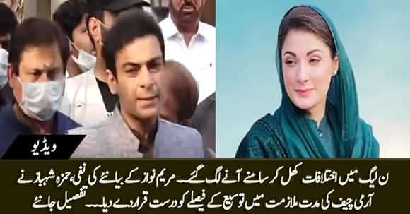 Differences Among PMLN - No Ambiguity on Issue of Extension to Army Chief - Hamza Shahbaz