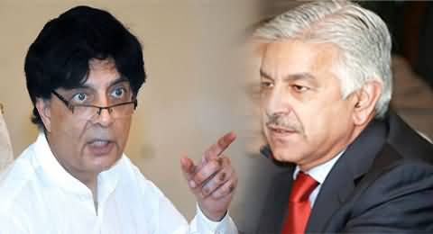 Differences Between Khawaja Asif and Chaudhry Nisar Getting Serious
