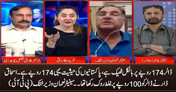 Dollar Is Fine at 174 Rupees, The Actual Worth of Pakistanis Is 174 Rs. PTI's Senator Numan Wazir Khatak