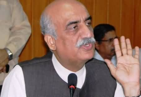 Don't Try to Stop Imran Khan's Long March, It will Be Dangerous For Democracy - Khursheed Shah