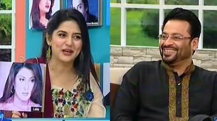 Dr. Amir Liaquat Hussain Double Meaning Comments on Actress Laila