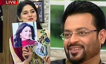 Dr. Amir Liauqat Hussain Talking About The Lips of Mehwish Hayat