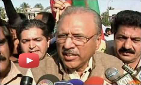 Dr Arif Alvi Talking To Media in Karachi After Being Lathi Charged - 29th December 2013
