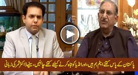 Dr. Samar Mubarakmand Telling How Many Atom Bombs We Need to Destroy India