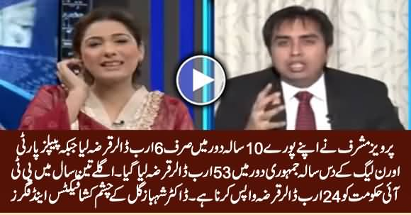 Dr. Shahbaz Gill Tells Shocking Facts & Figures How Much Loan PPP & PMLN Govt Took in 10 Years