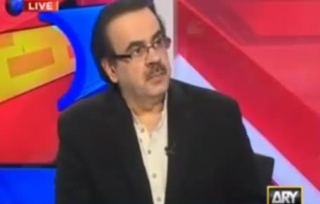 Dr. Shahid Masood Making Fun of Pervez Rasheed Statement About Army Chief Driving PM's Car